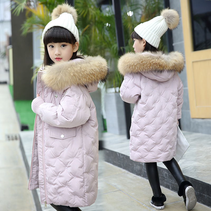 New Children's duck Down Jackets/coats Parkas real fur Girls\ boy Outerwears Coat thick Down feather jacket winter -30 degree new 2017 fashion girls winter coats female child down jackets top quality outerwear medium long thick 90% duck down parkas