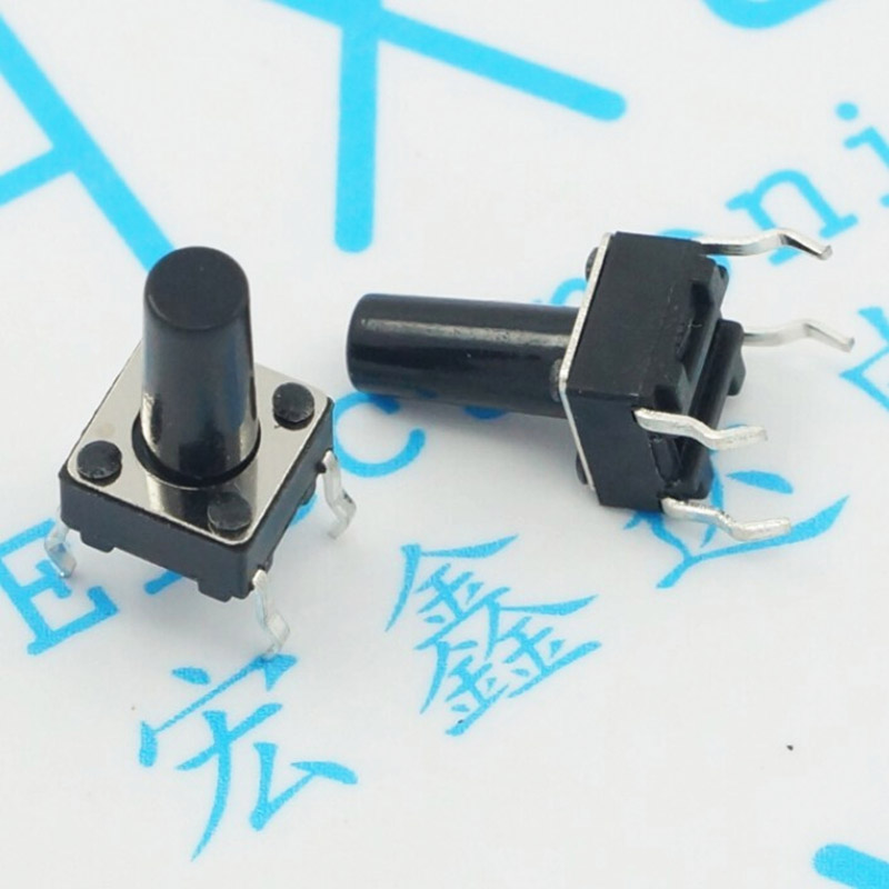 6 * * 10 mm pins touch DIP switches Light touch button factory direct sale moc3063 dip 6
