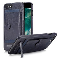 For Iphone 6 6s 7 Plus Case Real Leather Cases Card Pocket Mini Stand Holder Cover