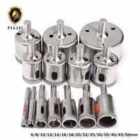 PEGASI 15 pièces/ensemble 6mm-50mm diamant enduit trou scie carrelage forets pour verre céramique porcelaine marbre foret