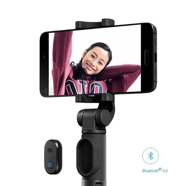 Original Xiaomi Foldable Tripod Monopod Selfie Stick Bluetooth With Wireless Button Shutter Selfie Stick For iOS/Android/Xiaomi 4