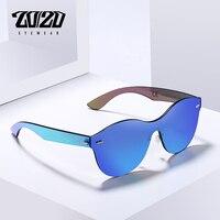 20 20 Brand Design Unisex Vintage Style Sunglasses Men Round Flat Lens Rimless Frame Women Sun