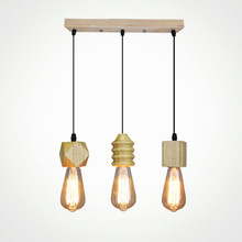 Modern pendant light wood Nordic indoor lamp vintage bar shop dinning bedroom hanging decoration lighting fixture AC110-265V black iron wood cage pendant light cord fixture nordic modern vintage hanging lamp lustre avize design foyer dinning table room
