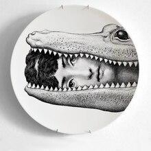 12Inch Artesanato Fornasetti Crafts Decoration Ceramic Home Hogar Manualidades Plate Porcelain Wall Plates