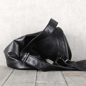 Image 5 - AETOO Mens handmade cowhide shoulder shouldered Baotou cowhide casual horizontal leather bag