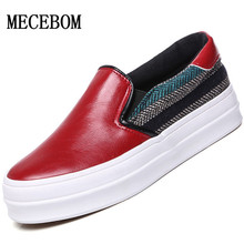 New Women Loafers Casual Flats Round Toe Black Red Loafer Shoes Autumn Comfort Women Shoes
