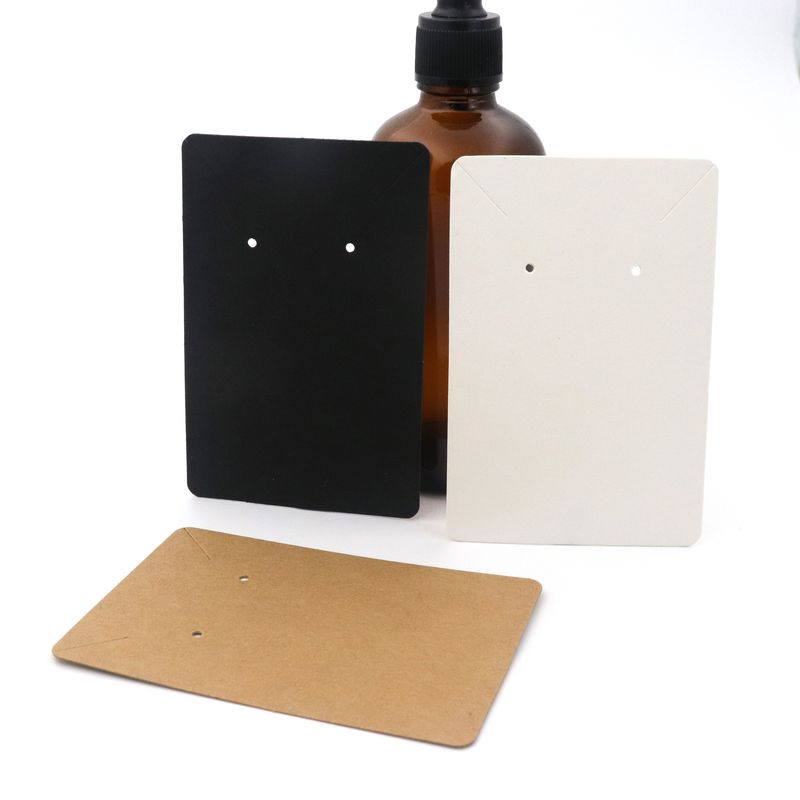 6*9CM 50PCS Rectangle Blank Jewelry Cards Kraft Paper Earrings Cards Necklace Label Tags For Jewelry Handmade DIY Accessories