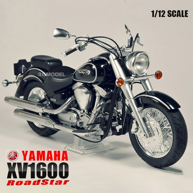 1 12 Scale Motorcycle Assembly Model Building Kits YAMAHA XV1600 Road Star Motor DIY kit Tamiya