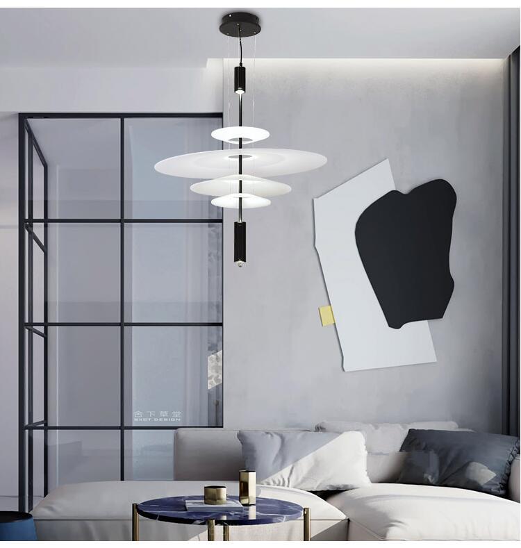 HTB1JydTefWG3KVjSZPcq6zkbXXal - Modern Acrylic LED Pendant Light Shadow Dining Room Kitchen Light Designer Hanging Lamps Indoor Lighting