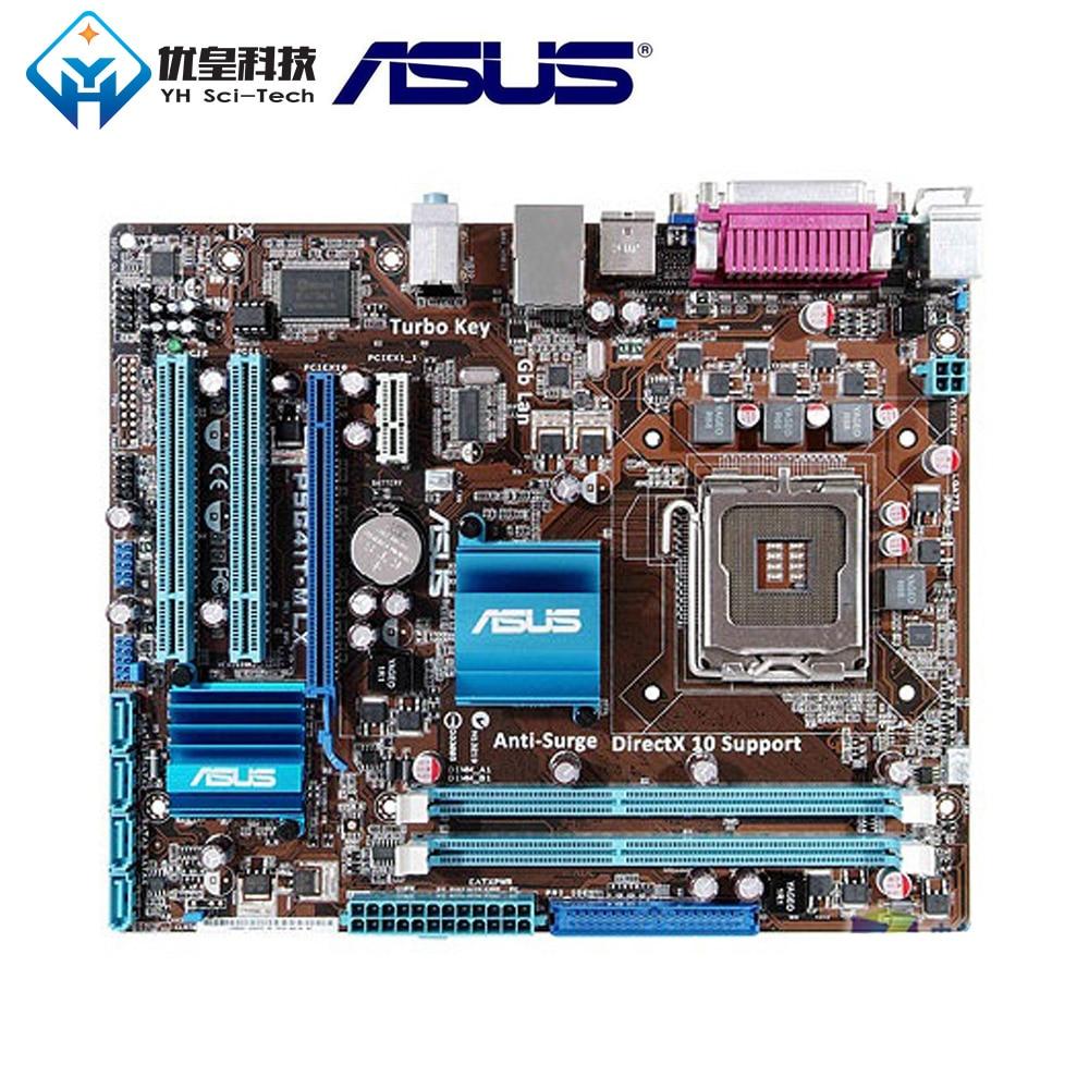 Original utilisé carte mère de bureau Asus P5G41T-M LX G41 Socket LGA 775 Q8200 Q8300 DDR3 8G u ATX