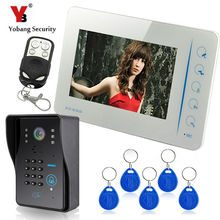 YobangSecurity 7″ Wired Color Video Door Phone Doorbell Intercom Monitor Visual Security Camera Bell System Kit With RFID Keyfob