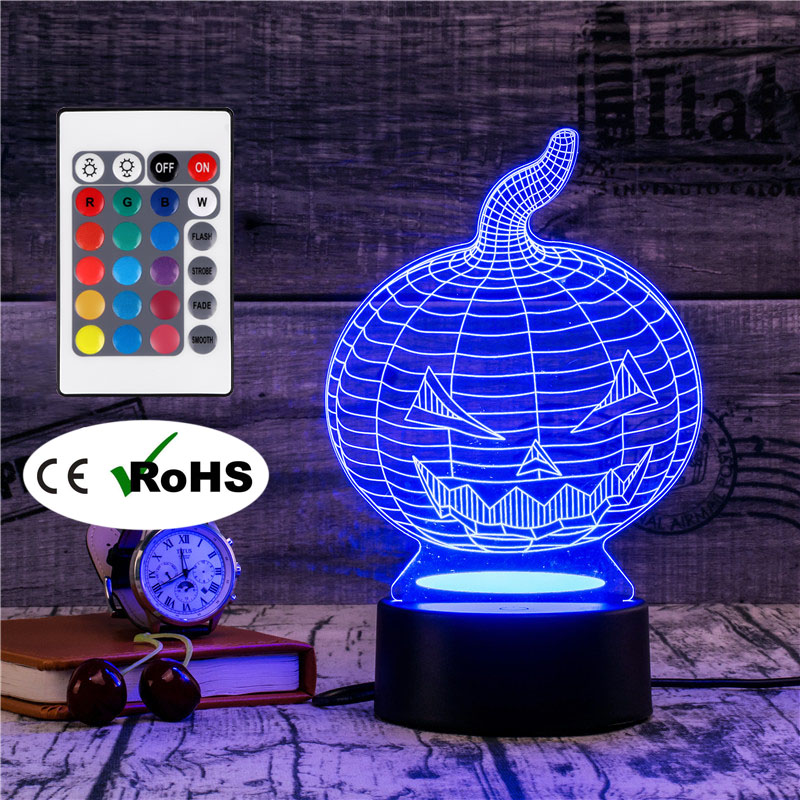3D Led Novety Lighting Creative Gift Night Light  Table Lamp Bedside Lampe Light Led Home Corridor Hotel Party Atmosphere Lights