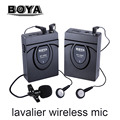 BOYA BY-WM5/BY-WM6/BY-WM8 Camera Wireless Lavalier Microphone Recorder System for Canon 6D 5D2 5D3 Nikon D800 Sony DV Camcorder