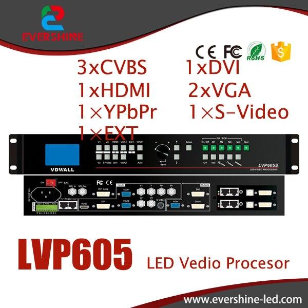 VDWALL LVP605 HD velik stenski video procesor z zaslonom z VGA / DVI / HDMI za uporabo v najemu in televizijskem oddajnem centru