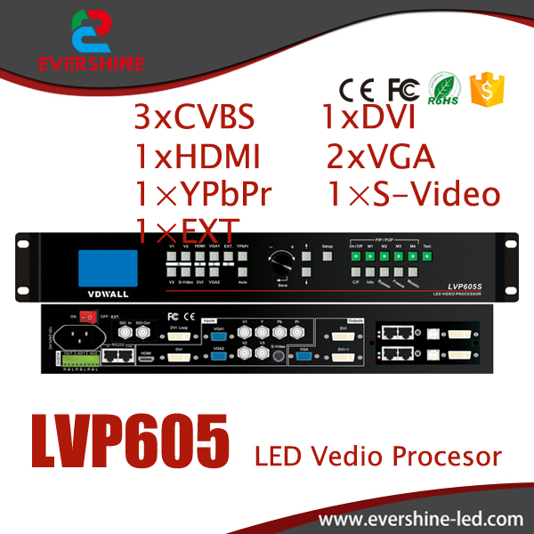 VDWALL LVP605 Large LED Screen Video Wall Processor with VGA/DVI/HDMI rtm875t rtm875t 605