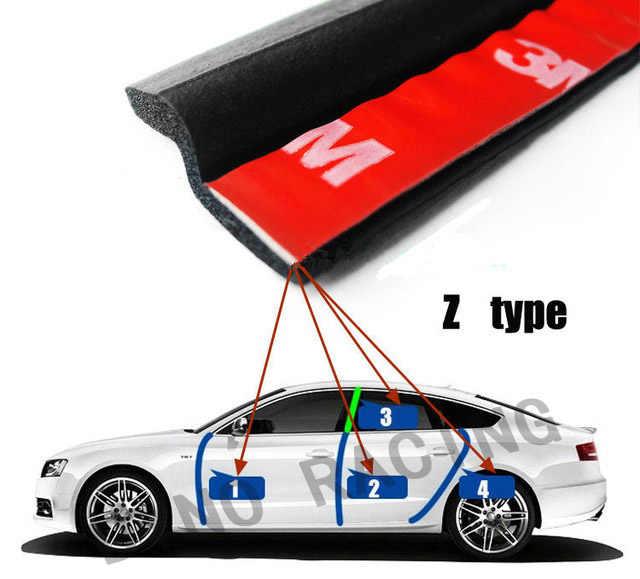 Dyno-Universal 4 متر Z نوع سيارة سدادة مطاطية عزل الصوت سيارة أشرطة ختم الابواب السير الوقائي حافة تقليم عازل للضوضاء