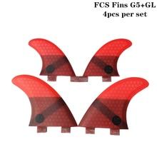 цена на Surf FCS Fins G5+GL Honeycomb Fibre Surfboard Fin in Surfing FCS 4 in Per Set