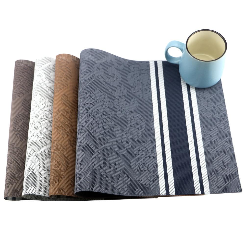 4pcs set pvc placemat dining table mats set de table bowl pad napkin dining table tray mat. Black Bedroom Furniture Sets. Home Design Ideas
