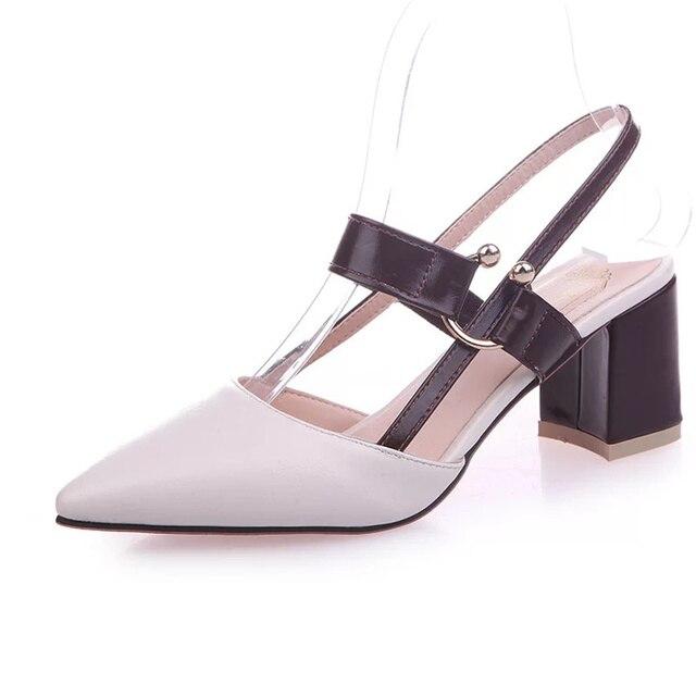 """Dewbest mujer """"tacones altos nữ dễ thương cao cấp Da Pu trơn trượt trên Giày cao nam nữ nâu thoải mái Giày cao gót"""