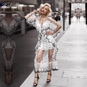 Сексуальное вечернее платье из шифона средней длины, Новая Европейская и американская мода 2018