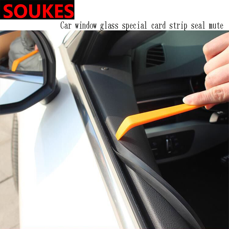 1m Car Interior Window Gap Soundproof Trim Seal Strip For Volkswagen VW Passat B6 B5 B7 B8 <font><b>Golf</b></font> <font><b>4</b></font> 5 7 6 Polo Opel Astra J H G image