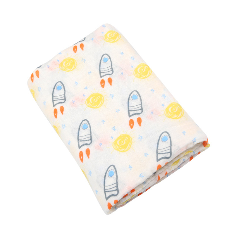 Muslin Cotton Baby Blanket 100% Cotton Baby Swaddle Breathable Baby Mutli-functional Muslin Baby Blanket Newborn