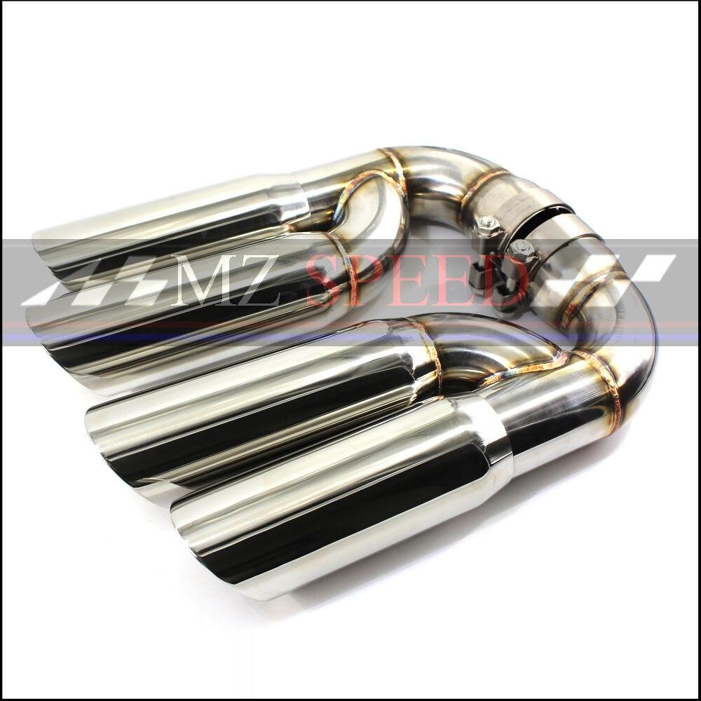 Acier Turbo GTS acier inoxydable Silencieux Queue Astuce, v6 Tuyau D'échappement Pointe adapté pour Porsche Cayenne Q7 X5 (Fit 2011-2014 Cayenne)