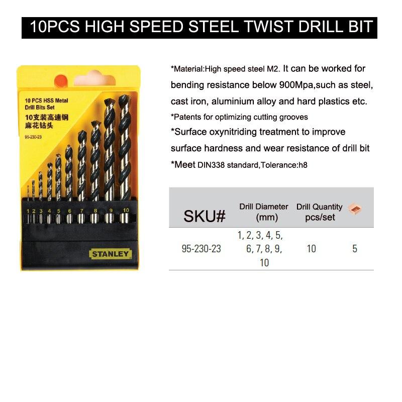 95-230-23 high speed steel twist drill 10pcs size