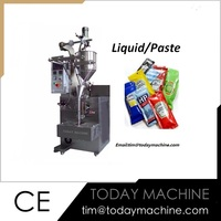 liquid feeding system thick paste tube filling and sealing machine