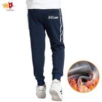 AD Обувь для мальчиков флис Спортивные штаны для зимы Термальность утолщение Мотобрюки для детей анти-15 сантиметров степени холодной верхня...