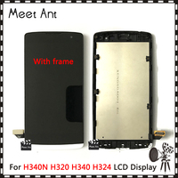 DHL 10pcs/lot 4.5'' For LG LG Leon H340N H320 H340 H324 C50 MS345 Y50 LCD Display Screen With Touch Screen Digitizer Assembly