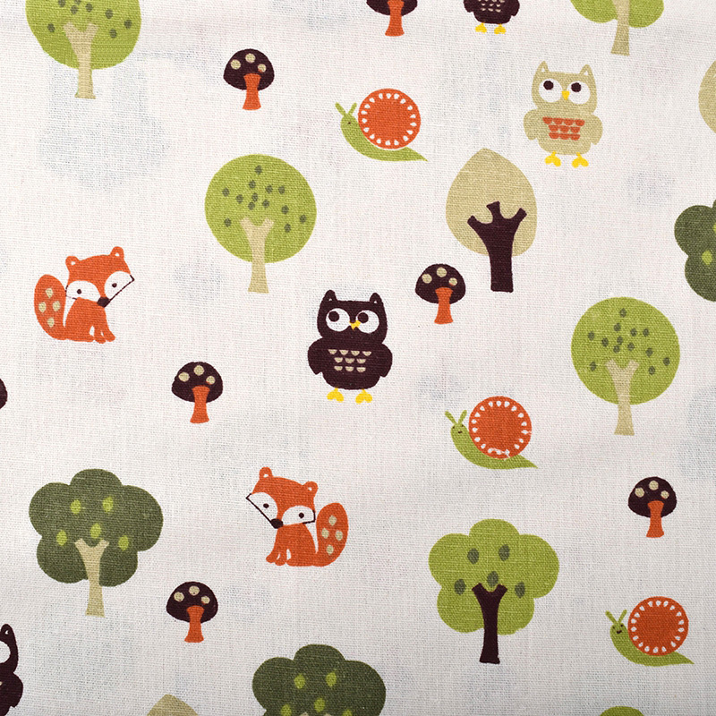 Apparel Sewing & Fabric Independent Printed Owl Cotton Linen Fabric For Quilting,diy Sewing,sofa,curtain,bag,cushion,furniture Cover Material,half Meter Cloth