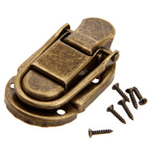 DRELD 1Pc 60x34mm Antique Brass Drawer Latches Iron Latch Decorative Jewelry Gift Wine Wooden Box Suitcase Case Hasp Latch Hook(China)