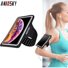 HAISSKY спортивный наручный чехол для iPhone XS Max XR X 6S 7 8 Plus ремень для бега на руку для samsung S10 Oneplus 7 Pro Xiaomi