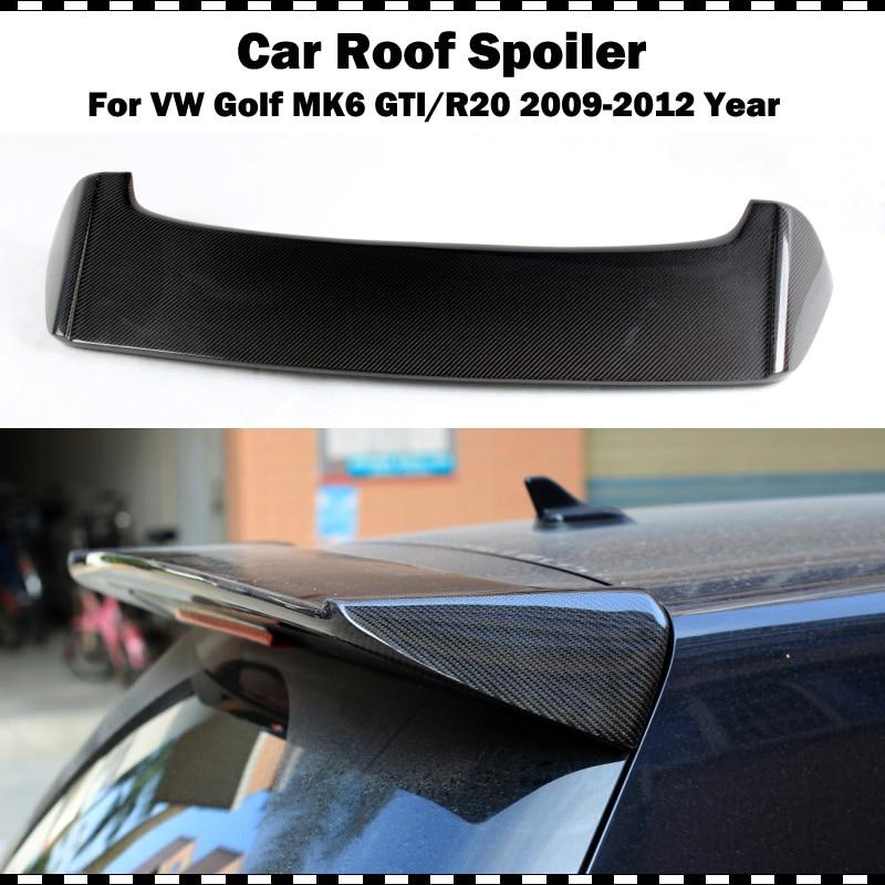 Aileron d'aile de toit en Fiber de carbone Style OSIR pour VW Golf VI MK6 2009-2012 golf 6 GTI R20 aileron de coffre arrière uniquement adapté GTI & R20