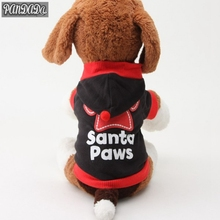 Pet Puppy Dogs Cat Coat Clothes Paws Printed Hoodie Sweater Apparel Tops