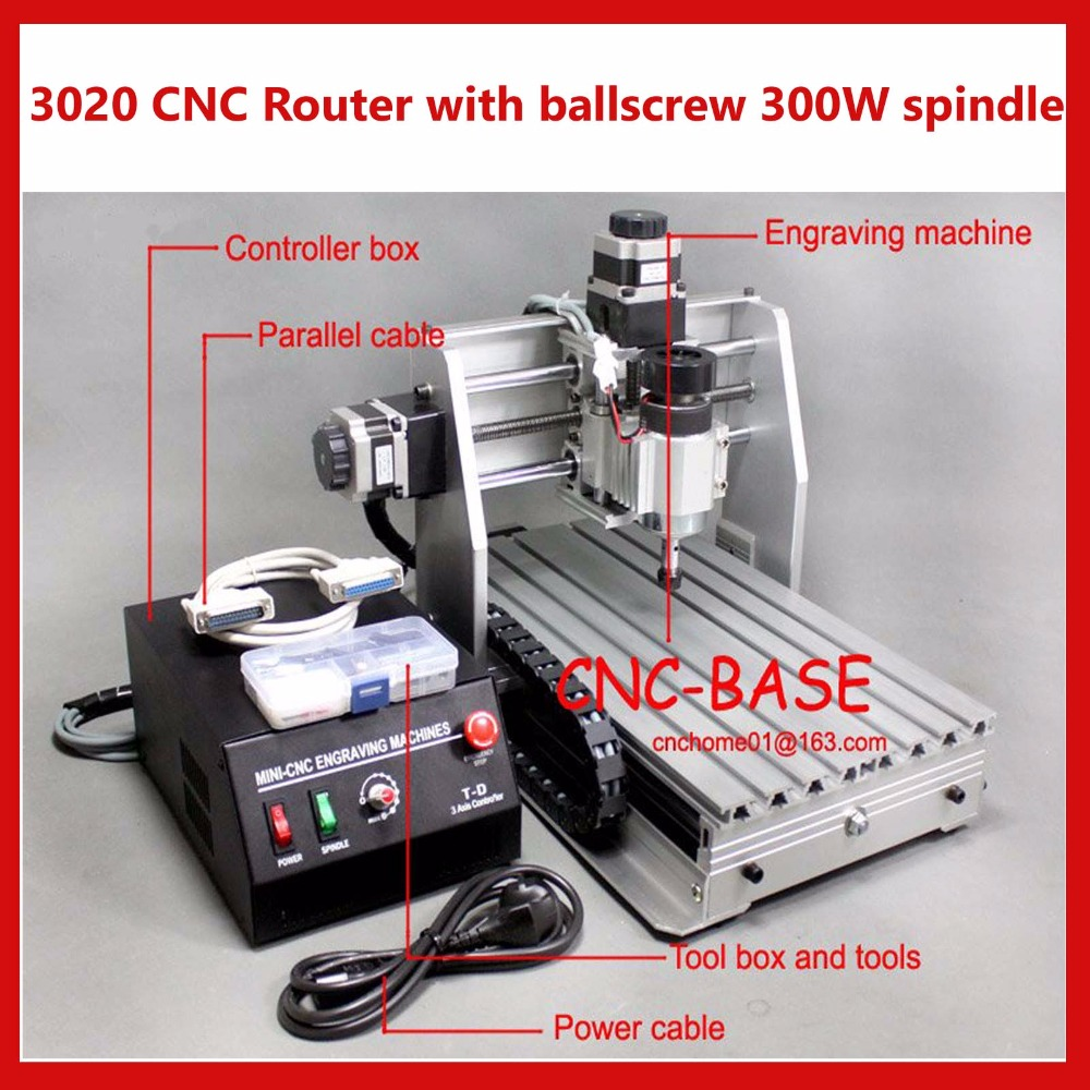 3020 ballscrew cnc router PCB engraver cnc engraving / milling / cutting / drilling / carving machine 300W 220V/110V 110v 220v 4 axis mini cnc am3040 engraver carving engraving router machine