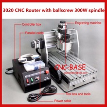 3020 ballscrew cnc router PCB engraver cnc engraving / milling / cutting / drilling / carving machine 300W 220V/110V