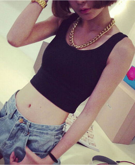 Mileegirl a short crop top, seven colors, summer style sleeveless vintage Sportwears tank tops,