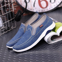 Whoholl Canvas Men Shoes Denim Slip-on Men Casual Shoes New 2019 Plimsolls Breathable Male Footwear Spring Autumn Pls Size 39-44