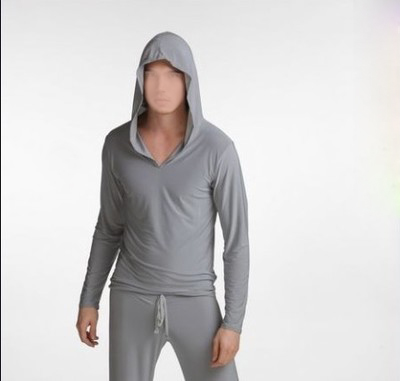 Free Shipping Male Male Viscose Long-sleeve Casual Sweatshirt With A Hood Men's Pajamas