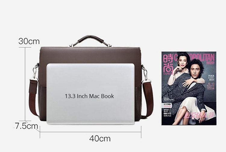 HTB1JygZO3HqK1RjSZFgq6y7JXXac 2020 Fashion Business Men Briefcase Leather Laptop Handbag Tote Casual Man Bag For male Shoulder Bag Male Office Messenger Bag