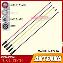 SMA-Female/BNC/SMA-Male Soft Antenna Dual Wide Band NA-771A VHF/UHF 144/430MHz High Gain Walkie Talkie Antenna for Kenwood HYT al 800 sma k vhf uhf detachable antenna for walkie talkie black