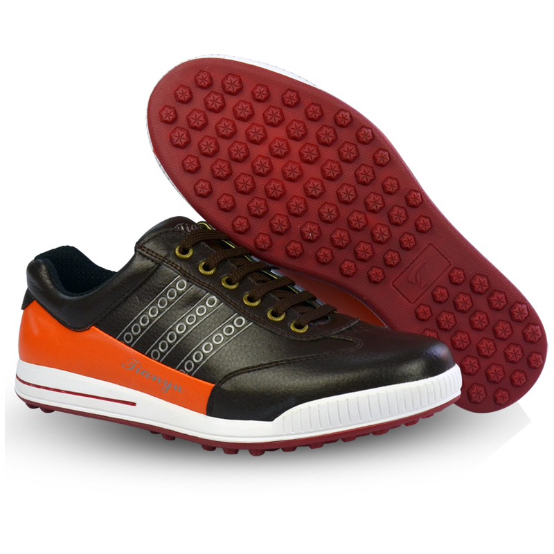 Mens Golf Shoes Non Slip Men Sports Shoes Lightweight Waterproof And Breathable Without Spikes Golf Shoes