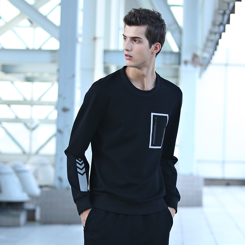 Col Black Rond Pull Mode Grande Viscose Nouvelle Casual À Taille Hoodies Poche Mens Sportswear Patchwork Pulls Manches Longues 2018 gw6UqZaxx