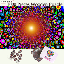 MOMEMO Color Dot 1000 Puzzle Toys Wooden Pieces Puzzles for Adults Beautiful Art Pattern Jigsaw