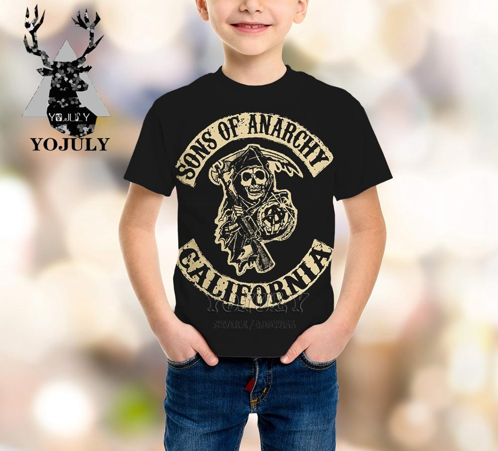 Kids T-Shirt Anarchy Tv-Series Baby-Boys-Girls Sons Sela Fashion Children's Hot of Harajuku