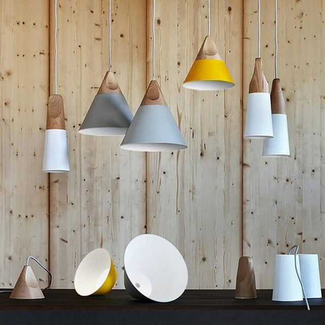Modern Colorful Nordic Pendant Lights Home Dining Room Pendant Lamps  Restaurant Coffee Bedroom Pendant Lights Iron