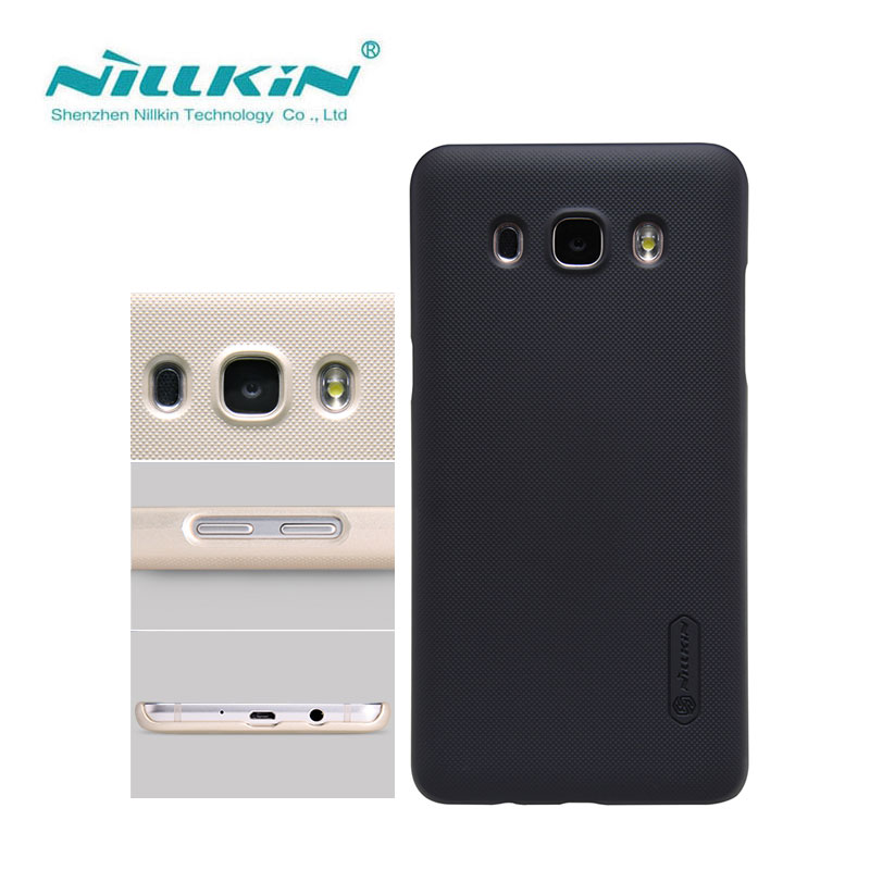 Nillkin Case for Samsung Galaxy J5 2016 J510 J510F Frosted Shield Hard Back Cover sfor Samsung J5 2016 Case with Film