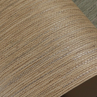 Faux Woven Textured Natural Grasscloth Wallpaper Cream Grey Silver String Linen Vinyl Wallpaper Designer Grass Cloth
